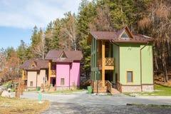 Skitoevlucht Forest Tale dichtbij Alma Ata, Kazachstan Royalty-vrije Stock Foto's