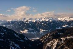 Skitoevlucht Goldeck bij Millstatter-meer Carinthia oostenrijk Stock Afbeelding