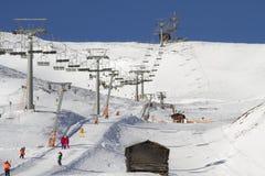 Skitoevlucht in Sillian Oostenrijk Stock Foto