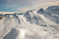 Skitoevlucht in Sotchi, Rusland Royalty-vrije Stock Foto's