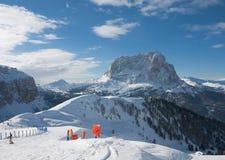 Skitoevlucht van Selva di Val Gardena, Italië Royalty-vrije Stock Fotografie