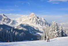 Skitoevlucht van Selva di Val Gardena, Italië Stock Afbeeldingen