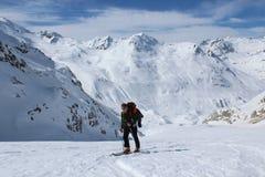 Skitour Stock Foto
