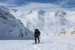 skitour Arkivfoto