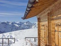 Skitour in Rofan-Bergen Stockbild