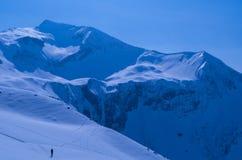 Skitour só nos cumes alemães Imagem de Stock