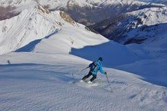 Skitouring в Villgratental, Австрии Стоковое Изображение RF