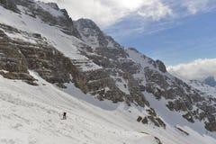 Skitouring Fotografie Stock Libere da Diritti