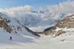 Skitouring foto de stock