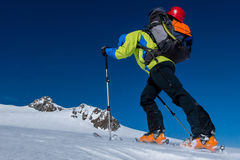 Skitouring Ascent Royalty Free Stock Image