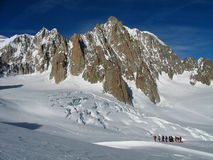 Skitouring backcountry Imagem de Stock