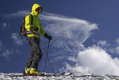 Skitourist. Stockfotografie