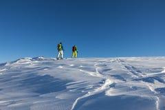 Skitouristen Lizenzfreies Stockfoto
