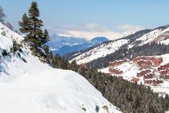 Skitracks della montagna fotografia stock libera da diritti