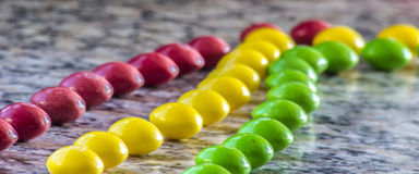 Skittle γραμμές Στοκ Εικόνα