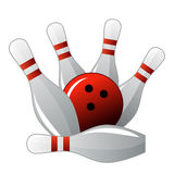 Skittle and bowling bal Royalty Free Stock Photos