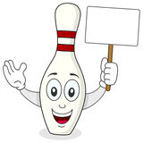 Skittle or Bowling Pin Cartoon Character Royalty Free Stock Image