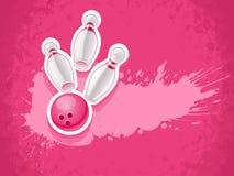 Skittles и шарик для боулинга игры Стоковое Фото