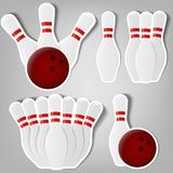 Skittles for bowling Royalty Free Stock Images