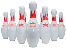 Skittles di bowling fotografie stock