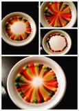 Skittles. Experiment idea Royalty Free Stock Photography