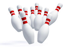 Skittles for game in bowling Royalty Free Stock Photo