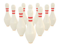 Skittles. Illustration of bowling skittles isolated on white background Stock Photography