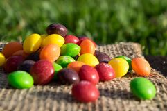 Skittles Mountain royalty free stock photo