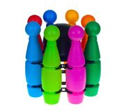 Skittles variopinti lancianti per i bambini Immagine Stock