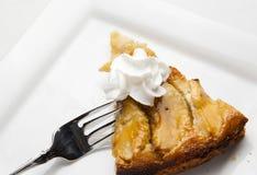 Skiva av Apple Kuchen Arkivbilder