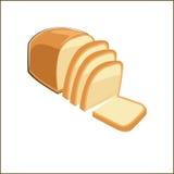 Skiva av bröd i klotterstil Arkivfoto