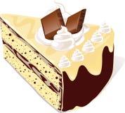 Skiva av chokladcaken royaltyfri illustrationer
