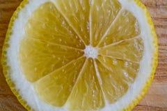 Skiva av citronen Arkivfoto