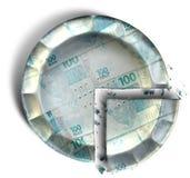 Skiva av den brasilianska verkliga pengarpajen Fotografering för Bildbyråer