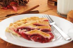 Skiva av den körsbärsröda pien Royaltyfria Foton