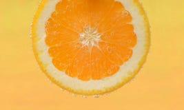 Skiva av den nya apelsinen Arkivfoton