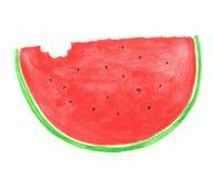 Skiva av den röda vattenmelonen Arkivfoton