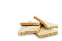 Skiva av ett bröd för helt vete Arkivfoto