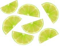 Skiva av limefrukt fotografering för bildbyråer