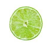 Skiva av limefrukt på vitbakgrund royaltyfri bild