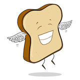 Skiva av ljust bröd Arkivfoto