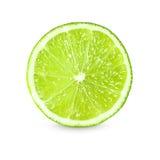 Skiva av ny limefrukt på vitbakgrund royaltyfri fotografi