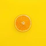 Skiva av orange frukt Arkivbild