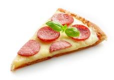 Skiva av Pizza arkivfoto