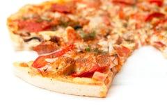 Skiva av Pizza Fotografering för Bildbyråer