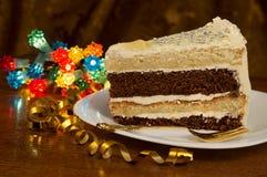Skiva av tårtan Royaltyfri Bild
