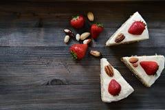 Skiva av tårtan Royaltyfria Foton
