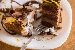 Skiva av tårtan Royaltyfri Foto