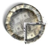 Skiva av US dollarpengarpajen Royaltyfri Fotografi