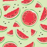 Skiva av vattenmelon royaltyfri illustrationer